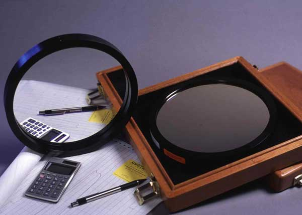 Two 200mm dia. medium band interference filters.